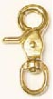 "#5013B BRASS SWIVEL EYE TRIGGER SNAP, 1/2"" EYE,2.5"" LONG"